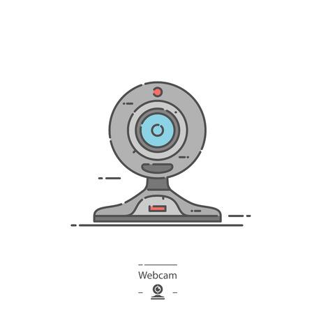 Webcam - Line color icon