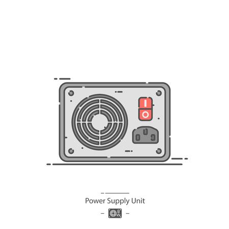 Power supply unit - Line color icon Illustration