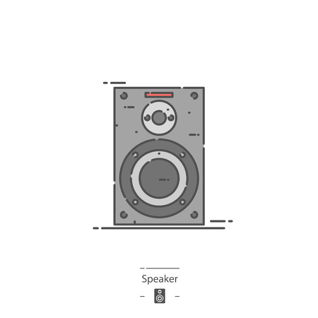 Speaker - Line color icon