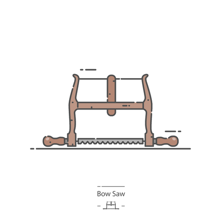 Bow saw - Line color icon