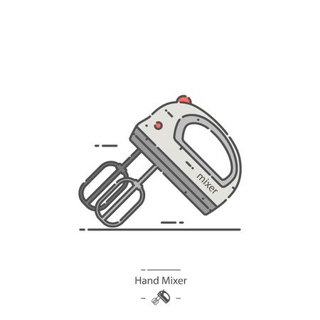 Hand mixer - Line color icon