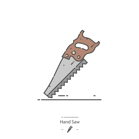 Hand saw - Line color icon
