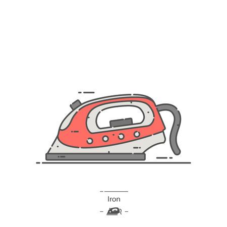 Clothes iron - Line color icon