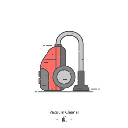 Vacuum cleaner - Line color icon