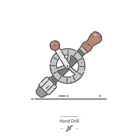 Hand drill - Line color icon