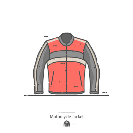 Motorcycle jacket - Line color icon Illustration