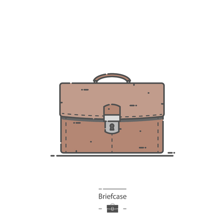 Briefcase - Line color icon