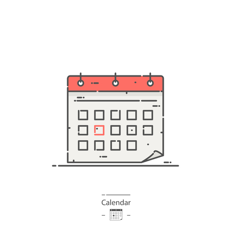 Calendar - Line color icon