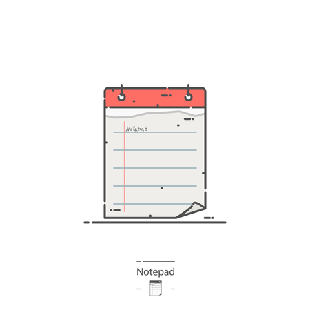 Notepad - Line color icon Illustration