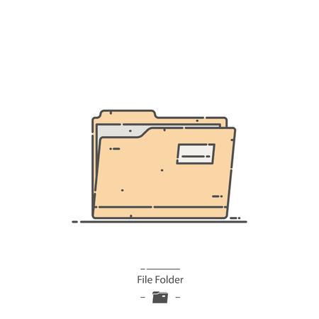File folder - Line color icon Illustration
