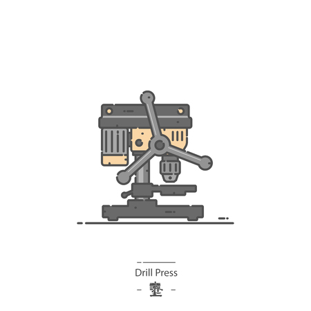 Drill press - Line color icon