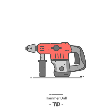 Hammer drill - Line color icon