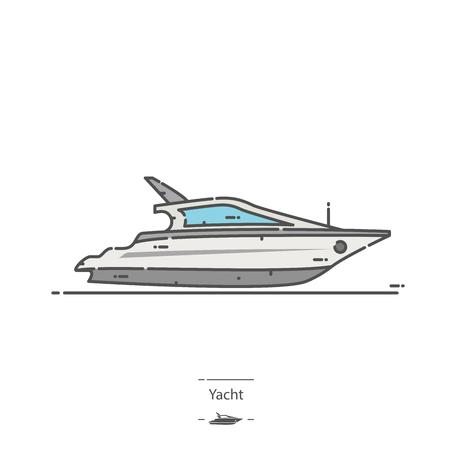 Yacht - Line color icon