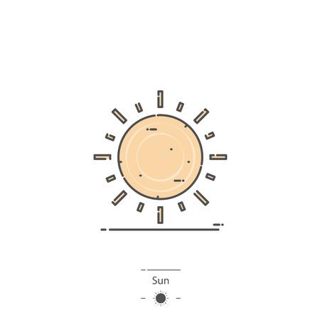 Sun - Line color icon