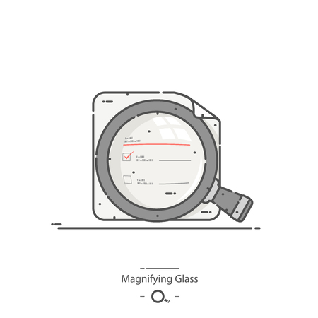 Magnifying glass - Line color icon