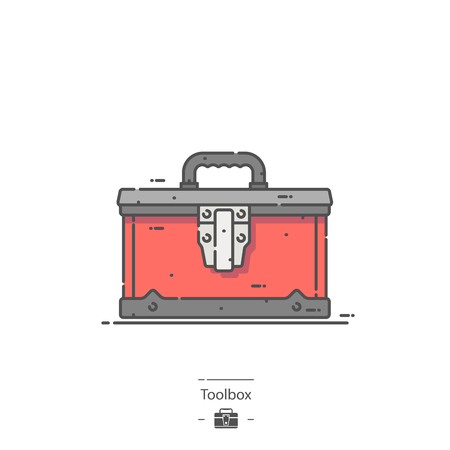 Toolbox - Line color icon Illustration