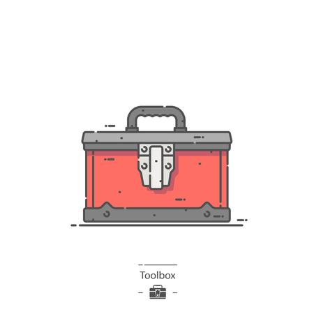 Toolbox - Line color icon 矢量图像