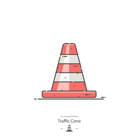 Traffic cone - Line color icon