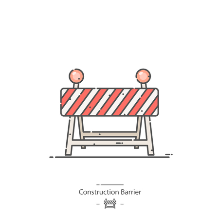 Construction barrier - Line color icon