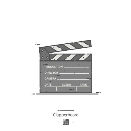 Clapperboard - Line color icon