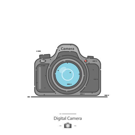 Digital camera - Line color icon Ilustracja