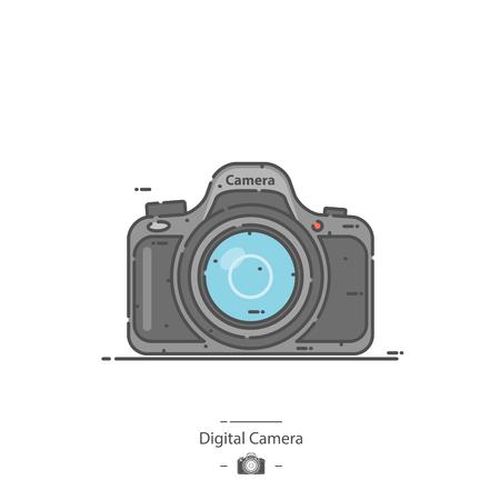 Digital camera - Line color icon Illustration