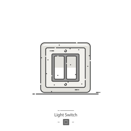 Light switch - Line color icon Stock Vector - 126179914