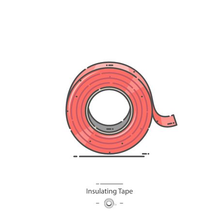 Insulating tape - Line color icon