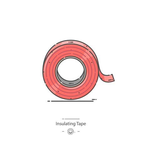 Insulating tape - Line color icon