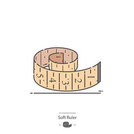 Soft ruler - Line color icon