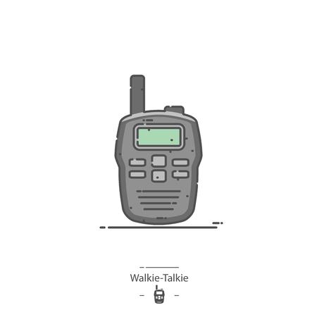 Walkie-talkie - Line color icon