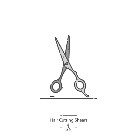 Hair cutting shears - Line color icon