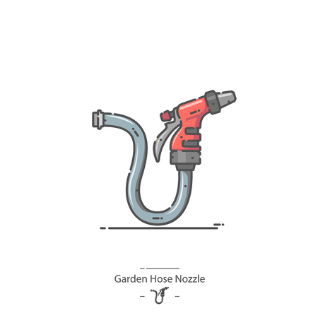 Garden Hose Nozzle - Line color icon