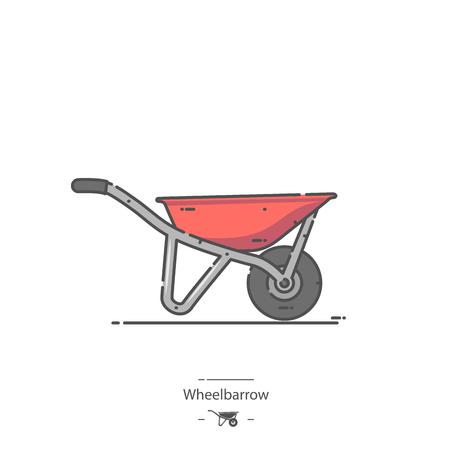 Red Wheelbarrow - Line color icon