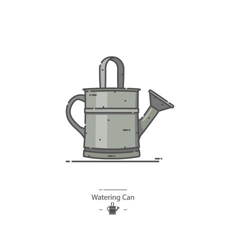 Arrosoir - Icône de couleur de ligne