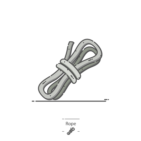 Rope - Line color icon Illustration