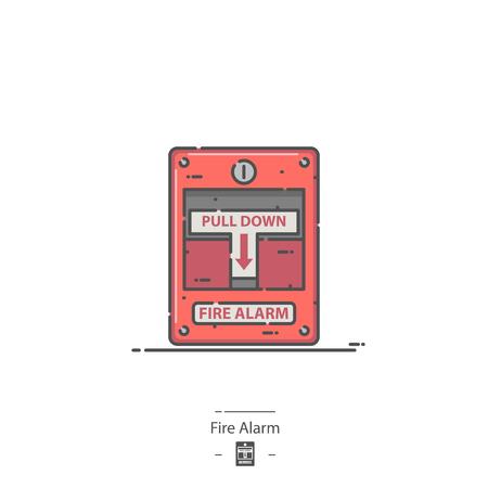 Fire Alarm - Line color ico