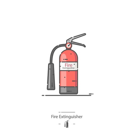 Fire Extinguisher - Line color icon