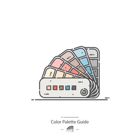 Color Palette Guide - Line color icon