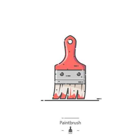 Paintbrush - Line color icon
