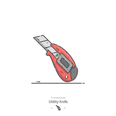 Utility Knife - Line color icon