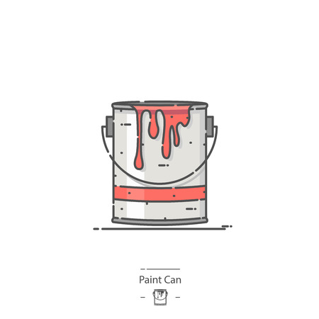 Paint Can - Line color icon