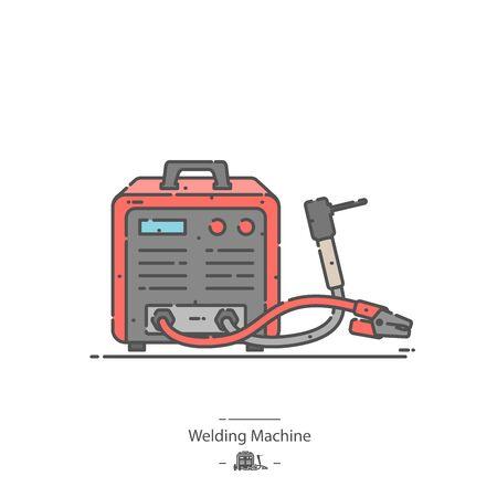 Welding Machine - Line color icon 矢量图像