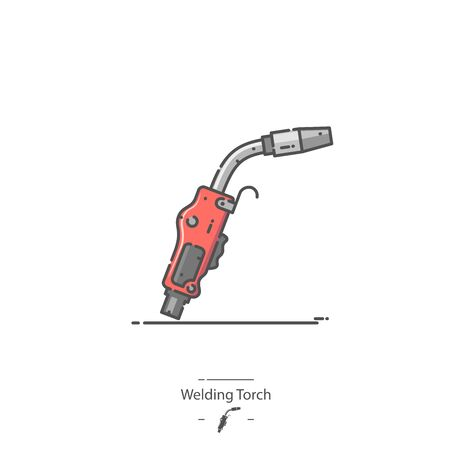 Welding Torch - Line color icon