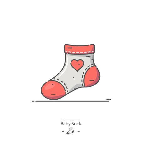 Baby Sock - Line color icon