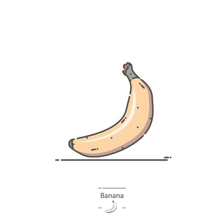 Banana - Line color icon