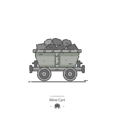 Mine Cart - Line color icon