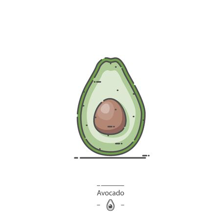 Avocado - Line color icon