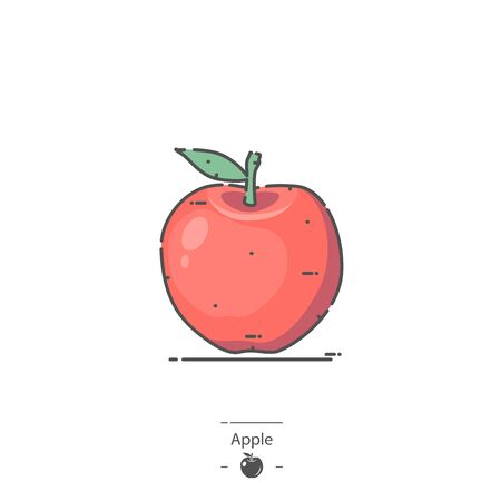 Red Apple - Line color icon