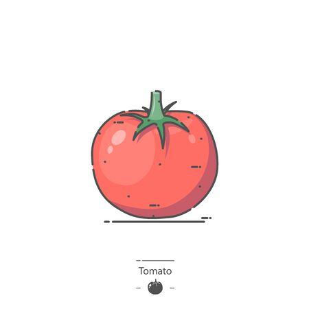 Tomato - Line color icon